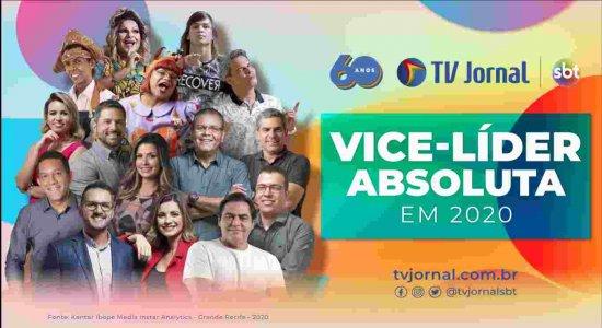 TV Jornal se consolida com vice-liderança absoluta em 2020