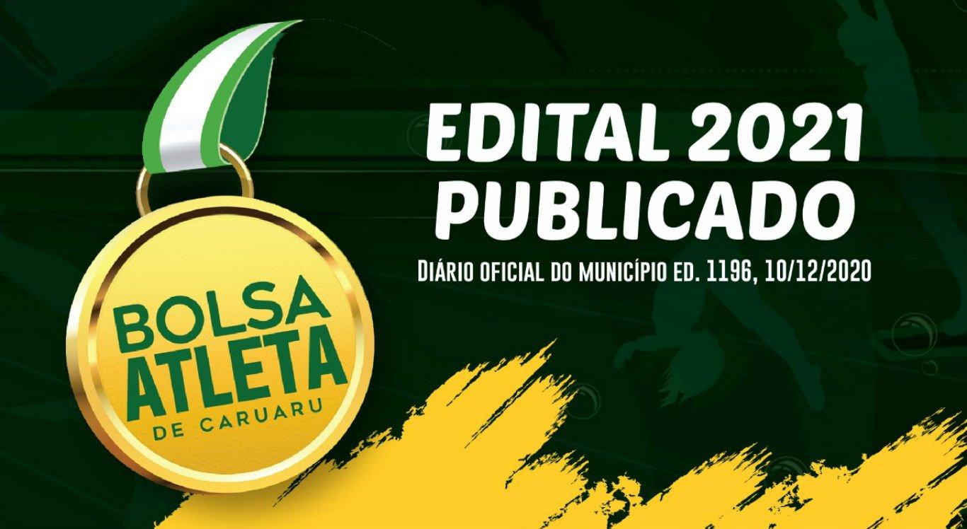 O edital do Bolsa Atleta foi publicado pela Prefeitura de Caruaru