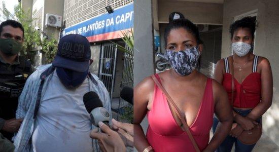 Mulheres vítimas de golpe brigam com suspeito, recuperam bolsa e golpista é preso no Recife