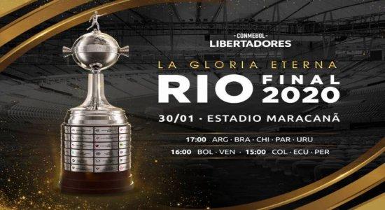 Libertadores: Conmebol confirma final dia 30, no Maracanã, às 17h