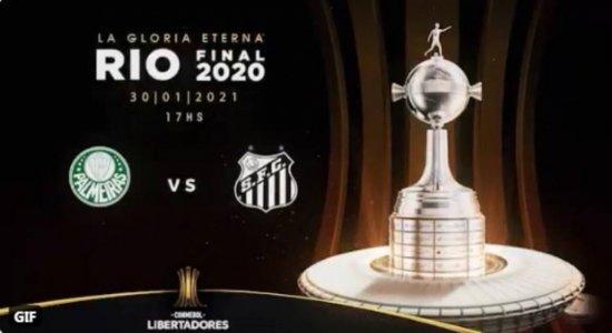 Palmeiras x Santos fazem final brasileira da Libertadores, no Maracanã. SBT transmite a decisão