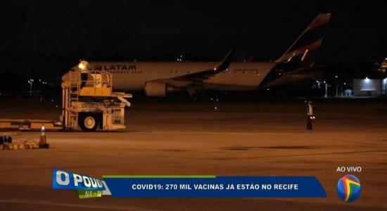 Covid-19: avião com 270 mil doses da vacina pousa no Aeroporto do Recife