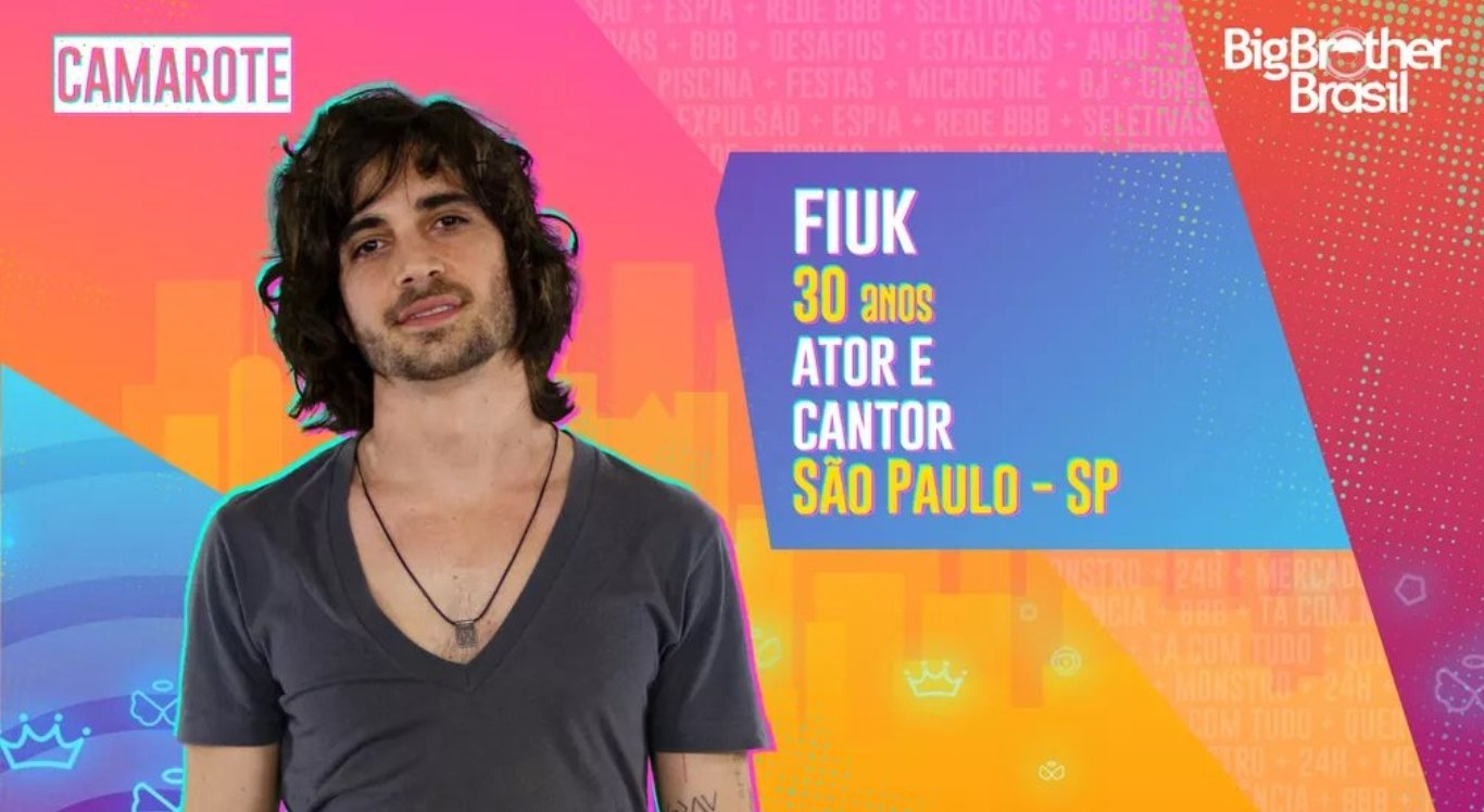 Fiuk (Camarote): Filho de Fábio Jr, ele é cantor e ator