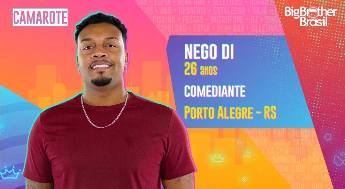 Nego Di (Camarote): Comediante