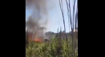 Aeronave pegou fogo em acidente