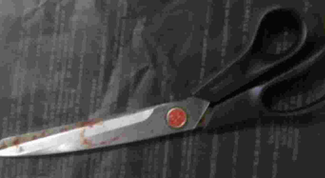 A possível arma do crime é uma tesoura
