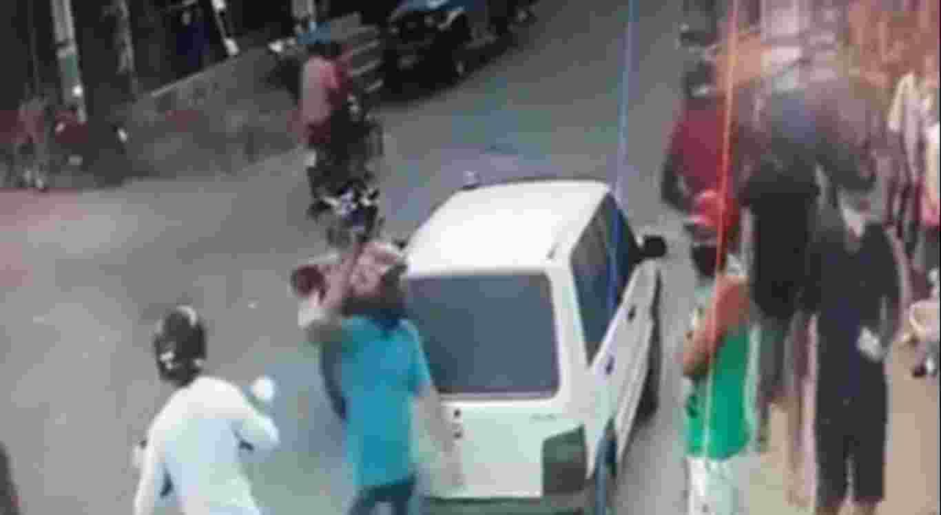 Câmeras de segurança flagraram a ação dos suspeitos em Salgadinho