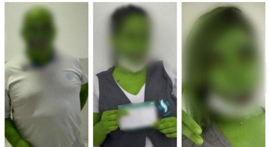 Funcionários de posto de saúde são advertidos após postarem fotos com filtro de jacaré depois de serem vacinados contra covid