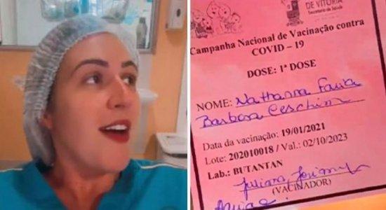 Enfermeira que debochou de eficácia da vacina contra a covid-19 é demitida