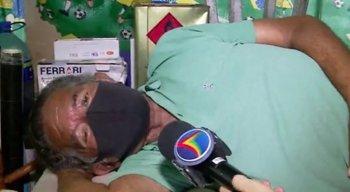 Eriberto Pereira, de 71 anos, tem um quiosque e diz já ter sofrido mais de 30 arrombamentos no local