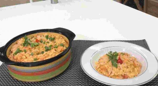 Receita deliciosa de Risotto de Camarão do chef Rivandro França