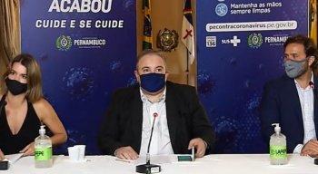 Medida foi divulgada nesta quinta-feira (28), durante coletiva online do Governo de Pernambuco