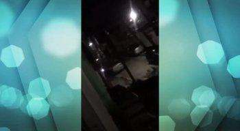 Os envolvidos no tiroteio perceberam a chegada da polícia e fugiram