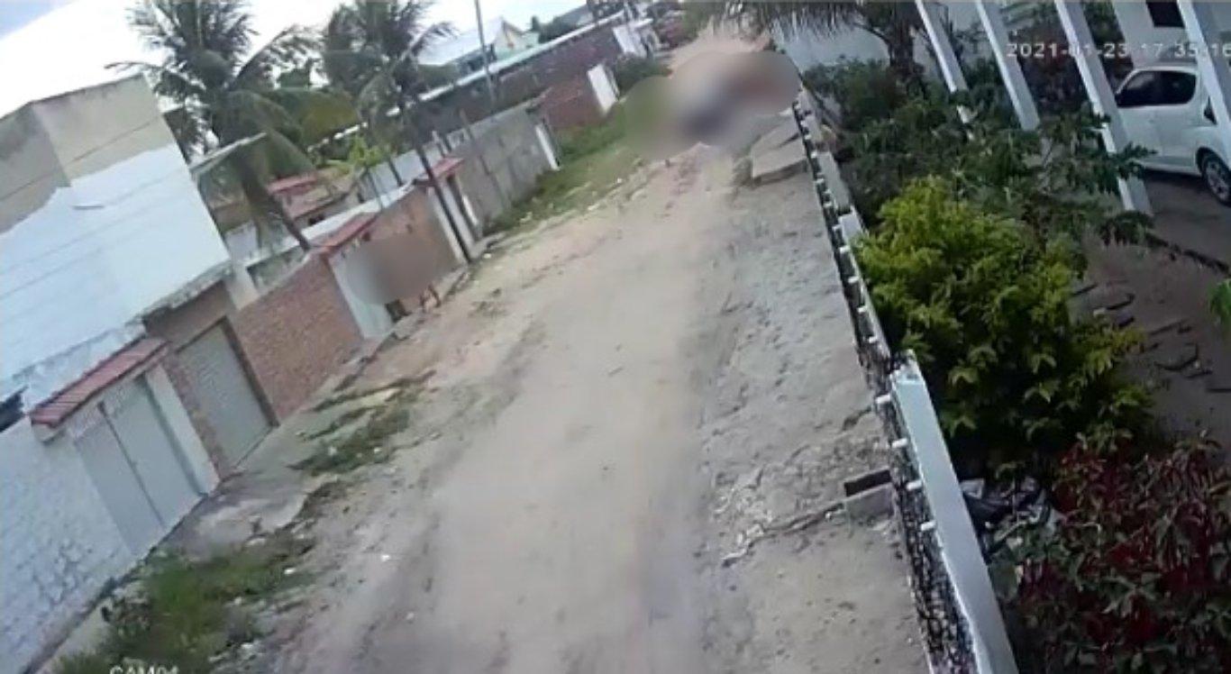 Câmeras de segurança flagraram crime