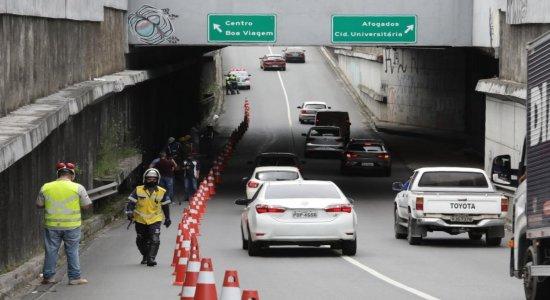 Obra de requalificação interdita faixa no Túnel da Abolição