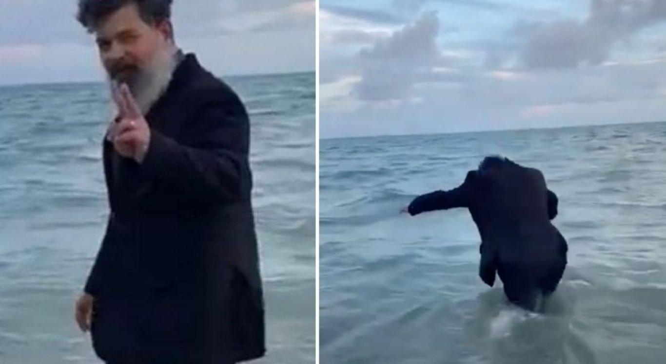 Juiz comemora aposentadoria com mergulho no mar