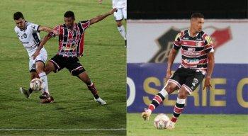 Bileu e André em campo pelo Santa Cruz no Campeonato Brasileiro da Série C