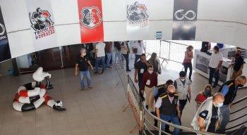 Vistoria sanitária na sede do Santa Cruz por conta da covid-19