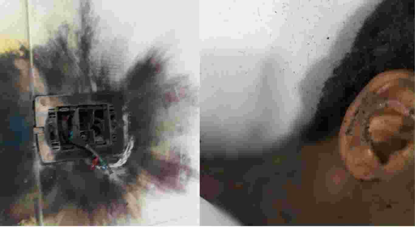 O raio atingiu a casa e a criança foi internada na UTI