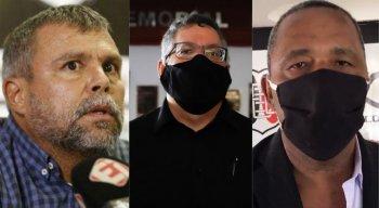 Roberto Freire (E), Joaquim Bezerra (C) e Josenildo ''Doddy'' (D)