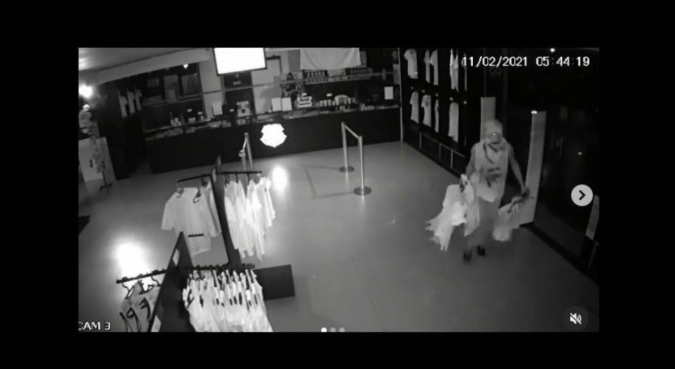 Homem invadiu loja oficial do Santa Cruz