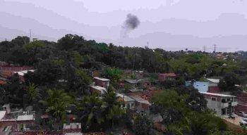 Moradores da região registraram uma fumaça saindo da subestação de Mirueira, em Paulista