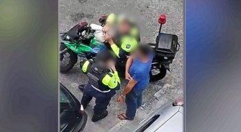O flagrante foi na Rua da Palma, no bairro do Recife