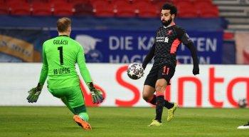 Salah marcou um dos gols da vitória do Liverpool