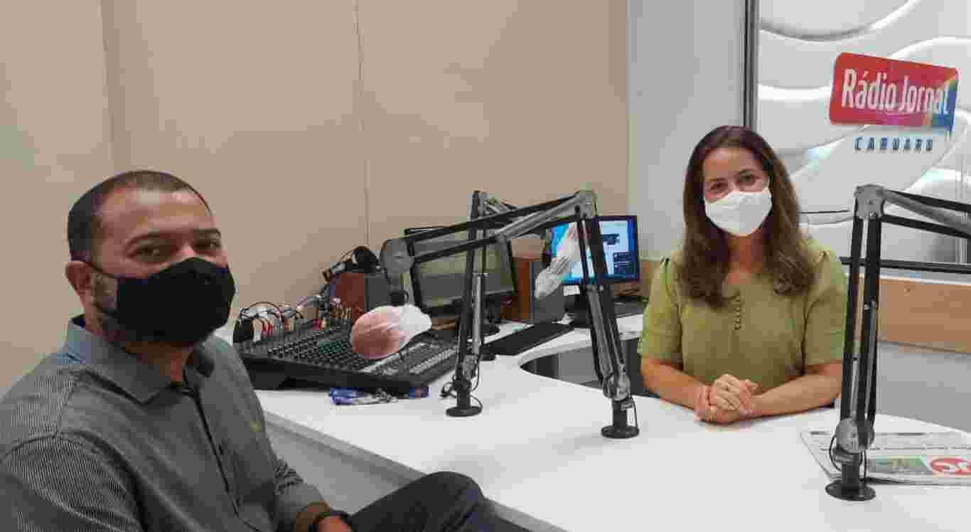 Aline Souza recebeu o secretário de Saúde, Breno Feitoza