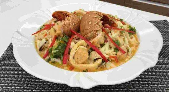 Sabor da Gente delicioso com uma receita de Arroz de Frutos do Mar