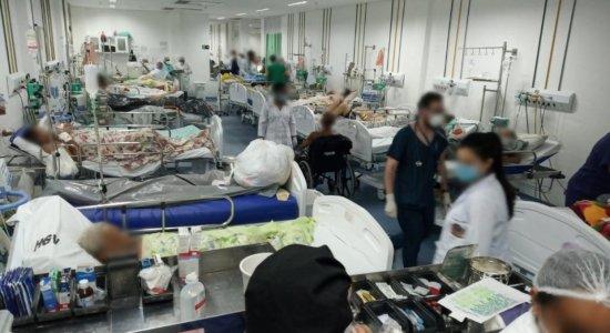Covid-19: Foto registra superlotação em sala de emergência do Hospital Getúlio Vargas