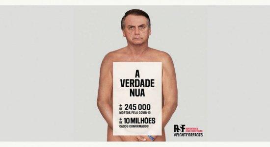 Bolsonaro aparece 'nu' em campanha contra desinformação