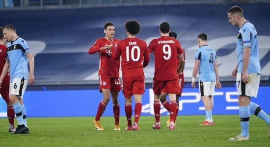 Bayern de Munique goleia Lazio e Chelsea supera Atlético de Madrid, pela Liga dos Campeões