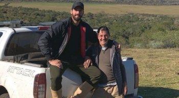 Alisson e o pai, José Becker, de 56 anos