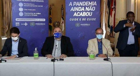 O Governo de Pernambuco anunciou as medidas em coletiva de imprensa.