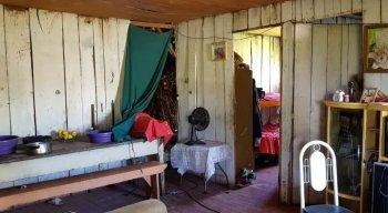 Eles vivam em lugares sem condições sanitárias
