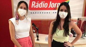 Samara Pontes recebeu a pedagoga e psicopedagoga clínica Roberta Marculino
