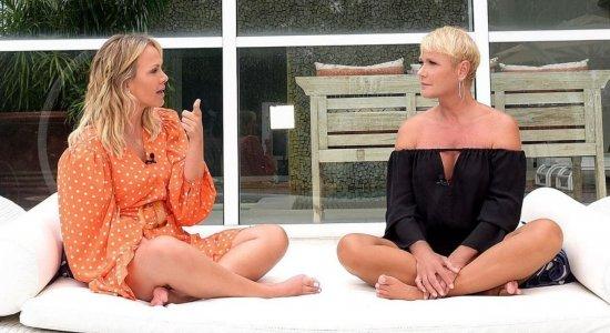 Eliana e Xuxa Meneghel se encontram para gravação de programa