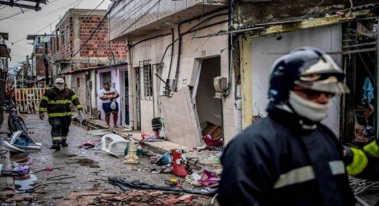 Quatro casa foram afetadas pela explosão do botijão de gás