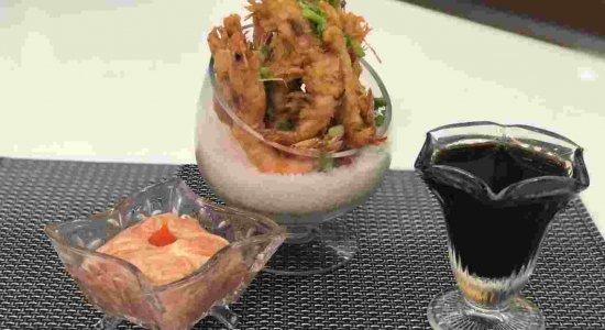 Receita deliciosa de Tempurá de Camarão do chef Rivandro França