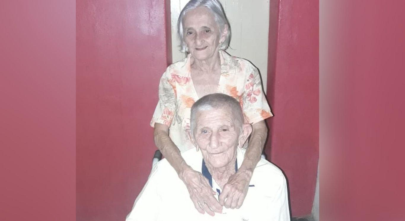 João Cipriano de Araújo, de 95 anos, e Joana Elisia de Araújo, 86 anos, eram casados há 63 anos