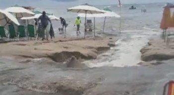 Novo vazamento foi registrado em Porto de Galinhas