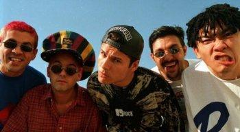 Banda Mamonas Assassinas, em foto tirada na década de 1990