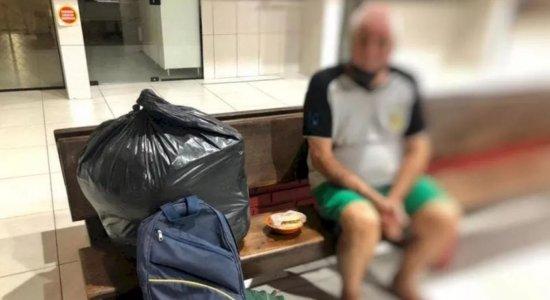 Homem é preso após suspeita de abandonar pai em rodoviária