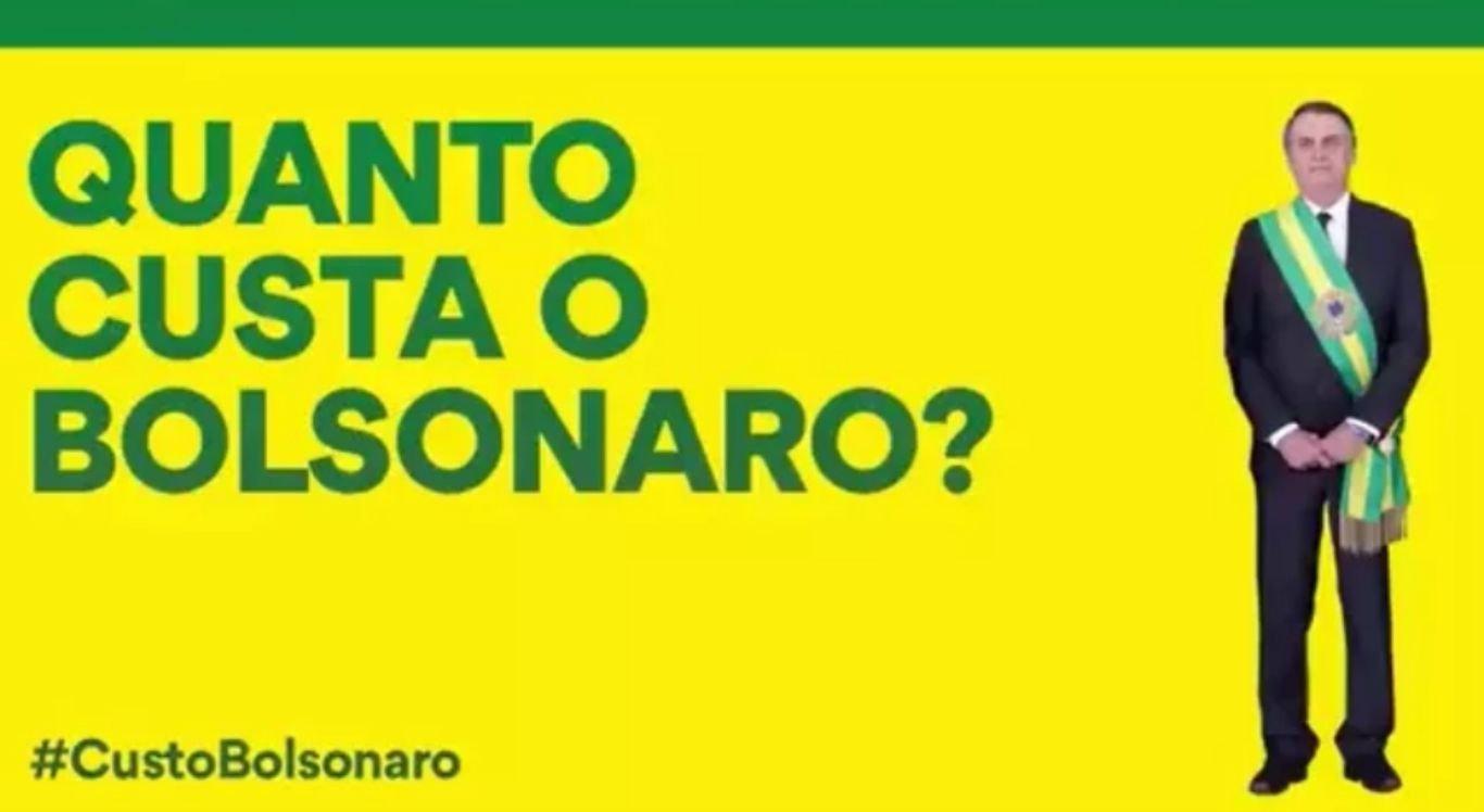 """Vídeo """"Custo Bolsonaro"""" viralizou nesta quinta-feira (4)"""