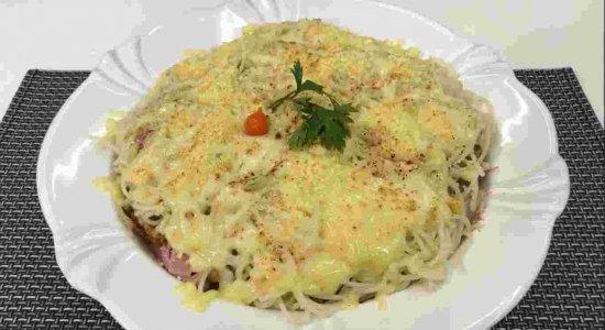 Receita deliciosa de Macarronada Montada preparada pelo chef Rivandro