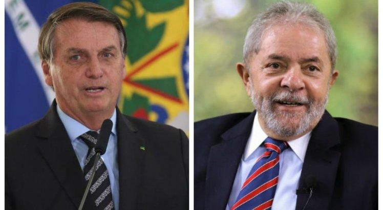 Lula supera potencial de votos de Bolsonaro, de acordo com pesquisa