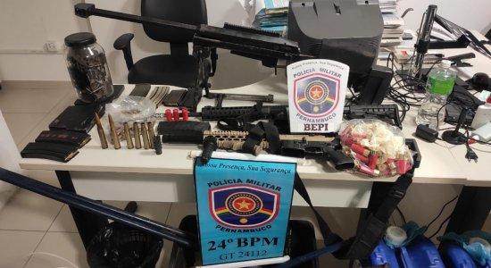 Polícia apreende arsenal em Taquaritinga do Norte e prende dois suspeitos de assalto a banco