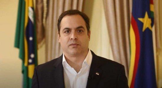 Governador de Pernambuco, Paulo Câmara (PSB), em pronunciamento oficial