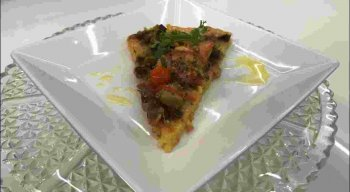 Receita de pizza de cuscuz do chef Rivandro França
